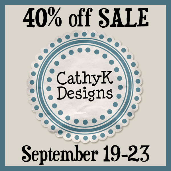 CathyK Designs 40% Off