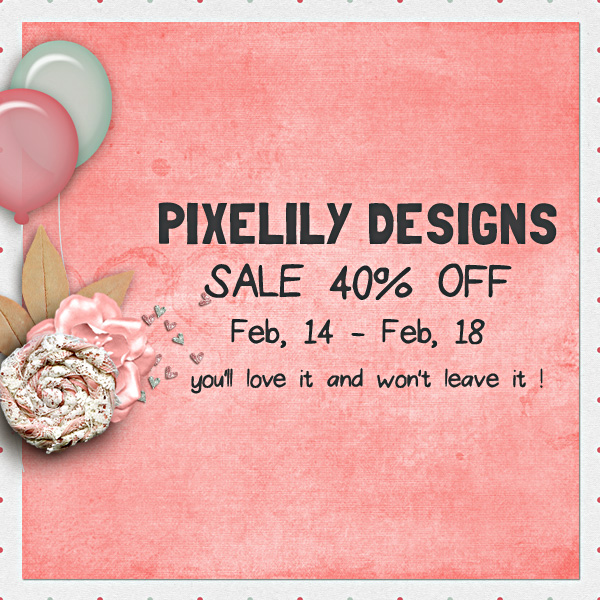 Pixelily Designs 40% Off!