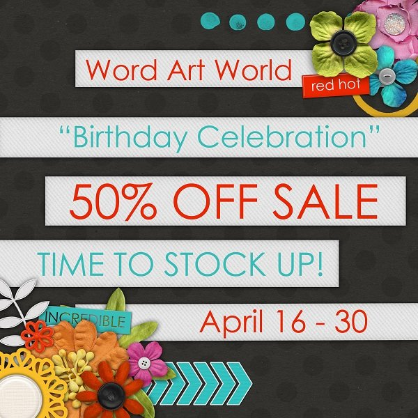 Word Art World 50% Off