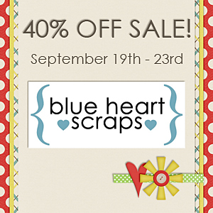 Blue Heart Scraps 40% off!