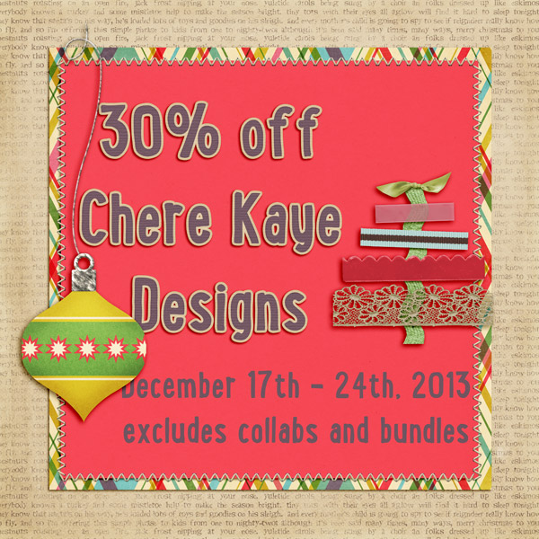 Chere Kaye Designs 30% off!