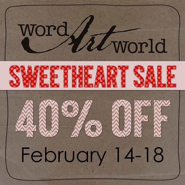 Word Art World 40% Off