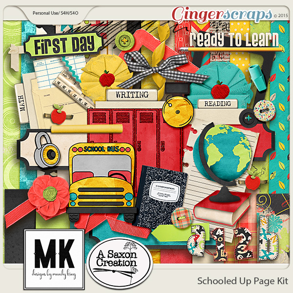 Schooled Up Page Kit by Designs by Mandy King & A Saxon Creation