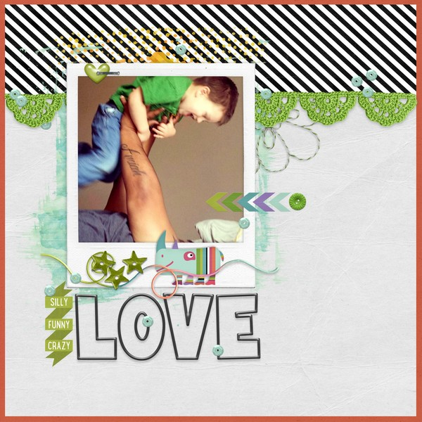 Created by crazsquaw. I love the use of the white space with the diagonal stripe top border.