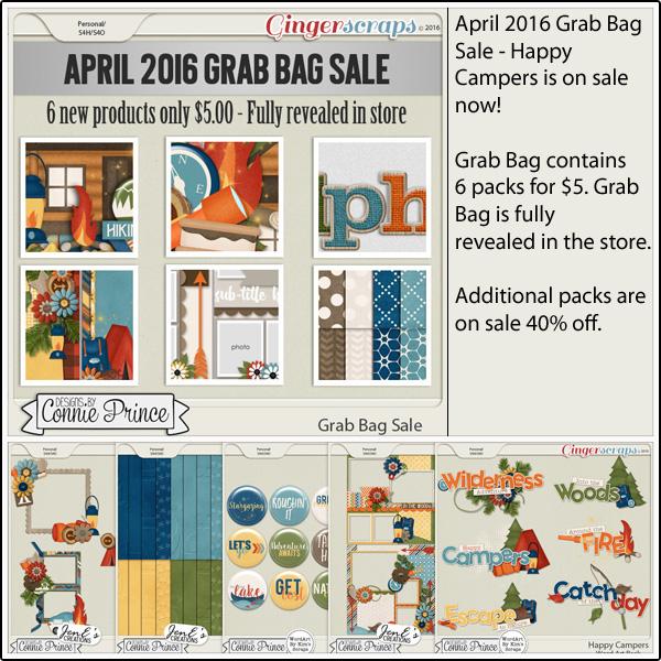 Grab Bag: http://store.gingerscraps.net/April-2016-Grab-Bag-Happy-Campers.html WordArt Pack: http://store.gingerscraps.net/Happy-Campers-WordArt-Pack.html Flair Pack: http://store.gingerscraps.net/Happy-Campers-Flair-Pack.html Cluster Pack: http://store.gingerscraps.net/Happy-Campers-Cluster-Pack.html Embossed Papers: http://store.gingerscraps.net/Happy-Campers-Embossed-Papers.html Quick Pages: http://store.gingerscraps.net/Happy-Campers-Quick-Pages.html
