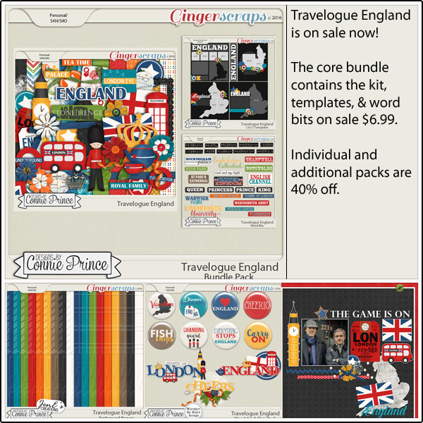 Bundle: http://store.gingerscraps.net/Travelogue-England-Bundle-Pack.html Kit: http://store.gingerscraps.net/Travelogue-England-Kit.html Word Bits: http://store.gingerscraps.net/Travelogue-England-Word-Bits.html Templates: http://store.gingerscraps.net/Travelogue-England-12x12-Temps-CU-Ok.html Word Art and Flair Pack: http://store.gingerscraps.net/Travelogue-England-Word-Art-and-Flair-Pack.html Embossed Papers Pack: http://store.gingerscraps.net/Travelogue-England-Embossed-Papers-Pack.html