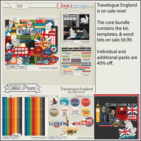 Bundle: http://store.gingerscraps.net/Travelogue-England-Bundle-Pack.html Kit: http://store.gingerscraps.net/Travelogue-England-Kit.html Word Bits: http://store.gingerscraps.net/Travelogue-England-Word-Bits.html Templates: http://store.gingerscraps.net/Travelogue-England-12x12-Temps-CU-Ok.html Word Art and Flair Pack: http://store.gingerscraps.net/Travelogue-England-Word-Art-and-Flair-Pack.html Embossed Papers Pack: http://store.gingerscraps.net/Travelogue-England-Embossed-Papers-Pack.html