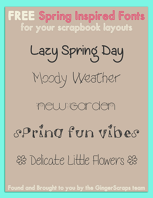 spring time fonts