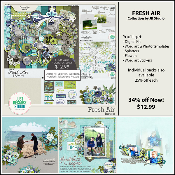 Bundle: http://store.gingerscraps.net/Fresh-Air-Bundle.html Digital Kit: http://store.gingerscraps.net/Fresh-Air-Digital-Kit.html Word Arts: http://store.gingerscraps.net/Fresh-Air-Wordart-and-Photo-Templates.html Word Art Stickers: http://store.gingerscraps.net/Fresh-Air-Wordart-Stickers.html Flowers: http://store.gingerscraps.net/Fresh-Air-Flowers.html Splatters: http://store.gingerscraps.net/Fresh-Air-Splatters-and-Other-Bits.html