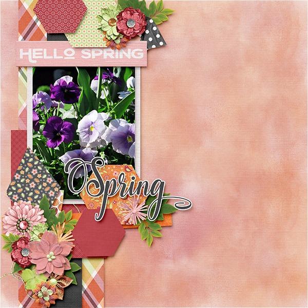 Template: Miss Fish Templates - Funky 2Kit: GingerBread Ladies - Let Spring Begin