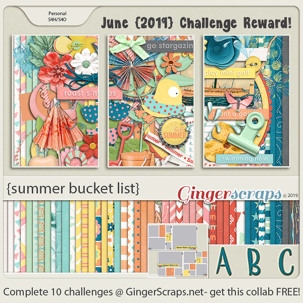 June 2019 Gingerscraps Participation Mega