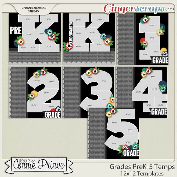 Grades PreK - 5th Grade - 12x12 Temps (CU Ok) by Designs by Connie Prince