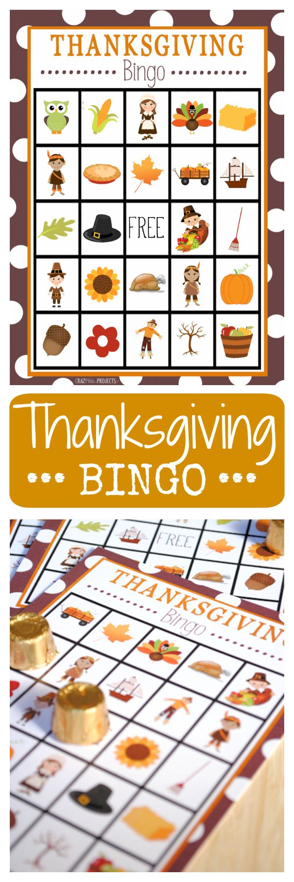 How easy would this be?!? A grid & your favorite elements. This would make a fun game to play on Thanksgiving!