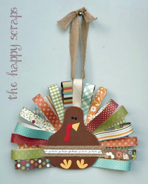 This is so cute! I really like that they used all those pretty patterned papers. Just think of all of the digital ones you have tucked away in your stash! You could print & have your turkey looking snazzy for Thanksgiving!