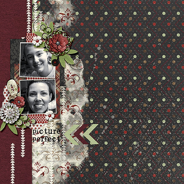 Created by Bekfek. I just love the patterned paper! It really breaks up the white space beautifully!