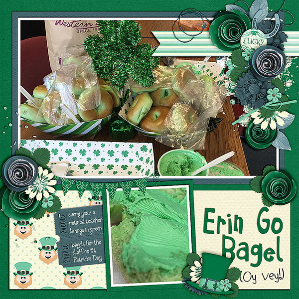 Created by Lisa. The layout makes me hungry and I Love how the kit ties so perfectly with the pictures.