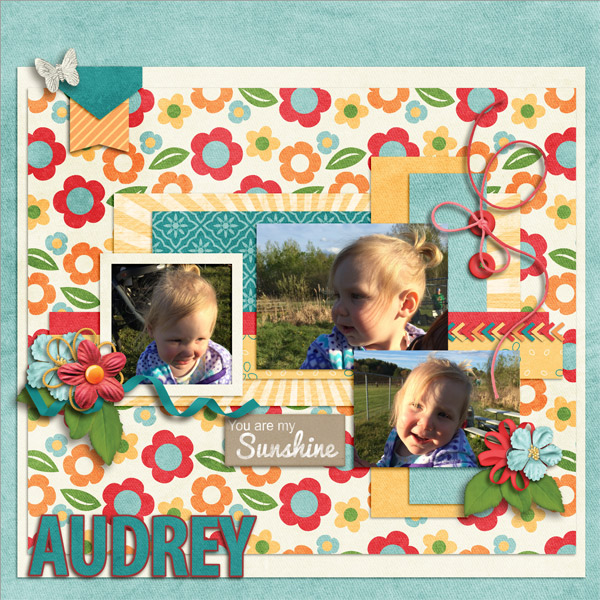 Created by lorigaud. I love the floral background! Such beautiful layers.