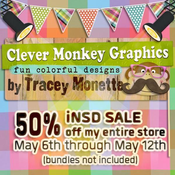 https://store.gingerscraps.net/Clever-Monkey-Graphics/