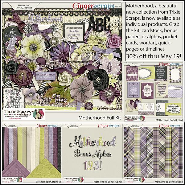 Full Kit: https://store.gingerscraps.net/Motherhood-Full-Kit-by-Trixie-Scraps-Designs.html Cardstock: https://store.gingerscraps.net/Motherhood-Cardstock-by-Trixie-Scraps-Designs.html Bonus Papers: https://store.gingerscraps.net/Motherhood-Bonus-Papers-by-Trixie-Scraps-Designs.html Bonus Alphas: https://store.gingerscraps.net/Motherhood-Bonus-Alphas-by-Trixie-Scraps-Designs.html Pocket Cards: https://store.gingerscraps.net/Motherhood-Cards-by-Trixie-Scraps-Designs.html Wordart: https://store.gingerscraps.net/Motherhood-Wordart-by-Trixie-Scraps-Designs.html Quickpages: https://store.gingerscraps.net/Motherhood-Quickpages-by-Trixie-Scraps-Designs.html Timelines: https://store.gingerscraps.net/Motherhood-Timelines-by-Trixie-Scraps-Designs.html